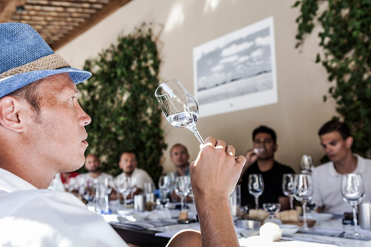 Grey Goose vodka tasting in Saint-Tropez during an incentive trip organized for Bacardi limited and photographed by Denis Dalmasso French photographer in south of France