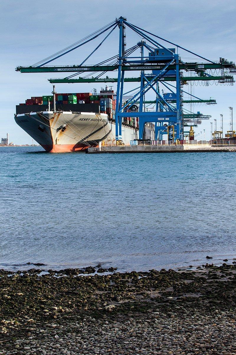 Corporate photography by Denis Dalmasso at Terminal conteneurs Nord – Fos 2XL - Port St Louis du Rhône
