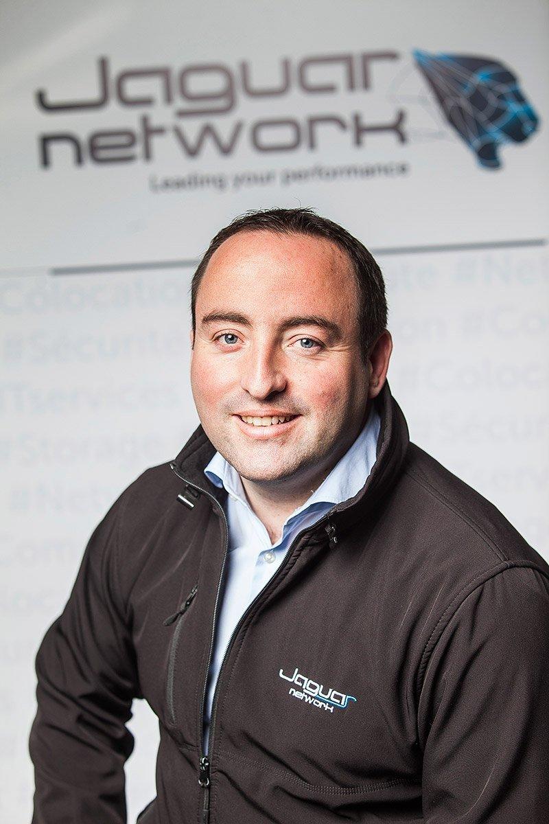 Corporate portrait of Kevin Polizzi, CEO of Jaguar Network,at Jaguar Network headquarters in Marseilles, France, photographed by portrait photographer Denis Dalmasso