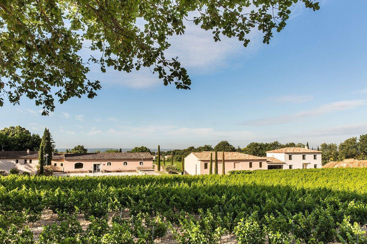 Paysage du domaine Pey Blanc à Aix-en-Provence