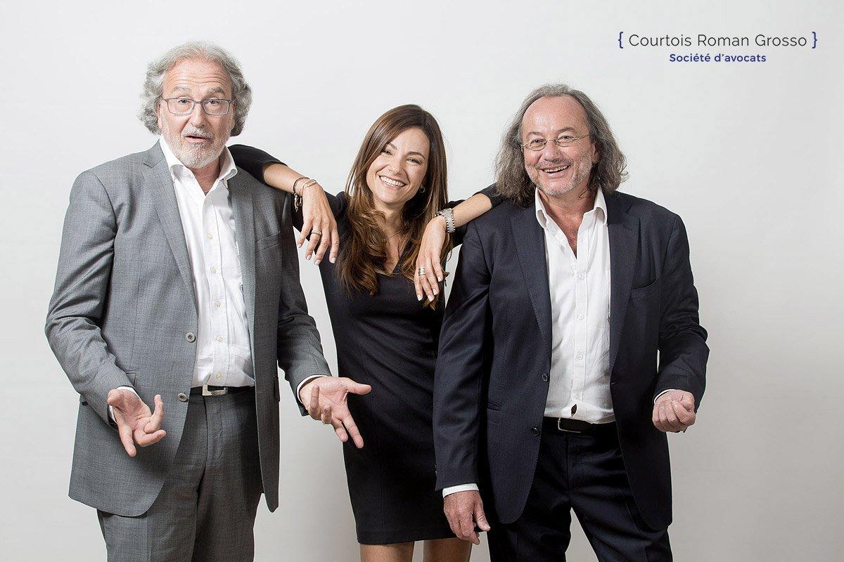 Portrait corporate des avocats aixois Me Courtois et Me Roman