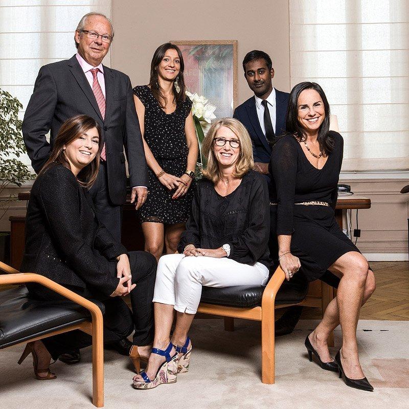 Portrait de groupe des associés et collaborateur du cabinet d'avocats P.I.O.S. - Marseille