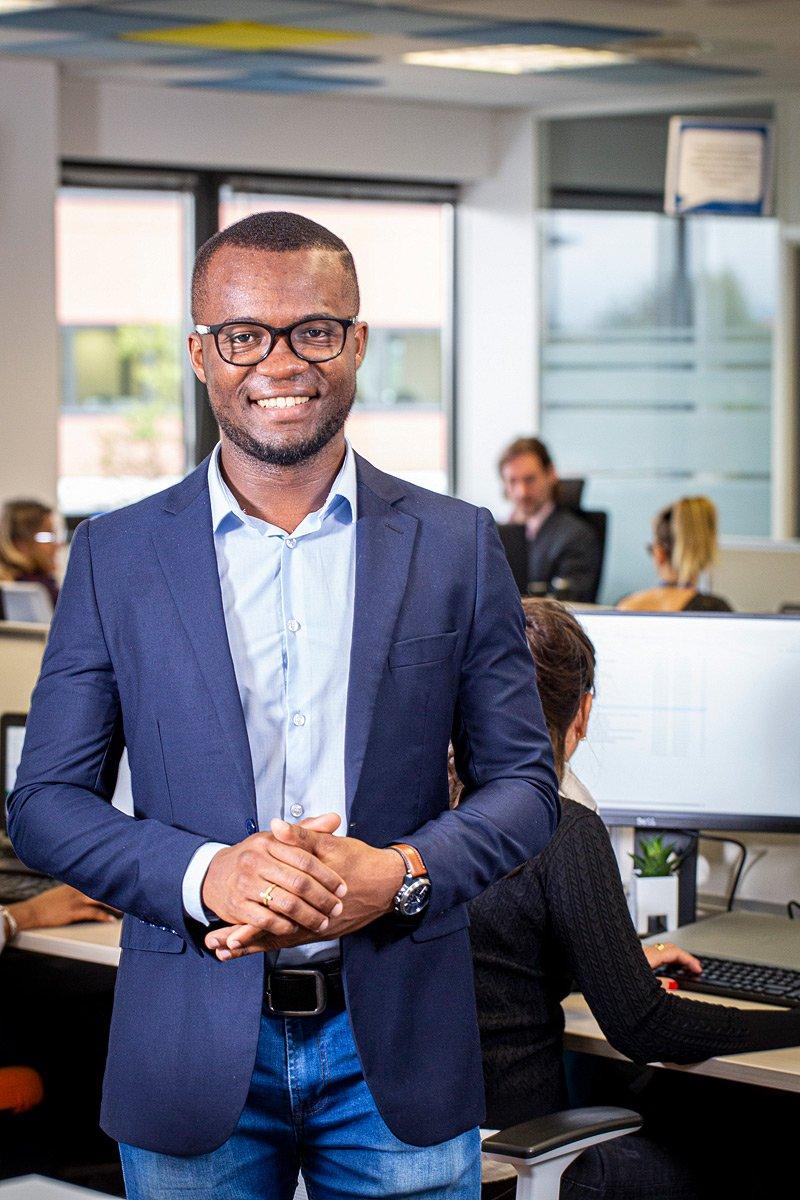 Portrait d'un manager de la société d'assurances Assurant à Aix-en-Provence