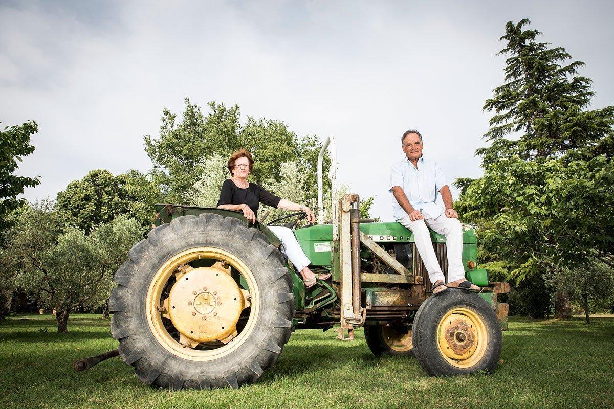 Portrait des propriétaires du domaine Pey Blanc à Aix-en-Provence